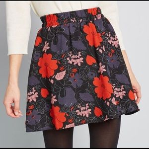 ModCloth Compania Fantastica Floral Mini Skirt
